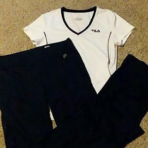 Fila athletic t-shirt and pants